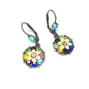 Colorful Flower Drop Earring